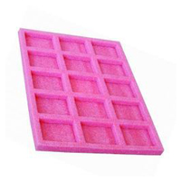 Bespoke routed pink static dissipative foam