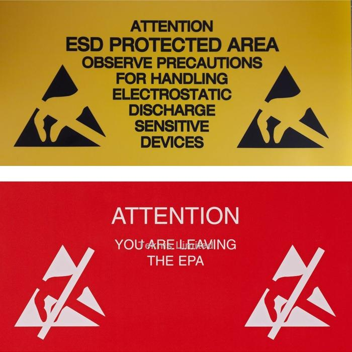 ESD WARNING SIGNS