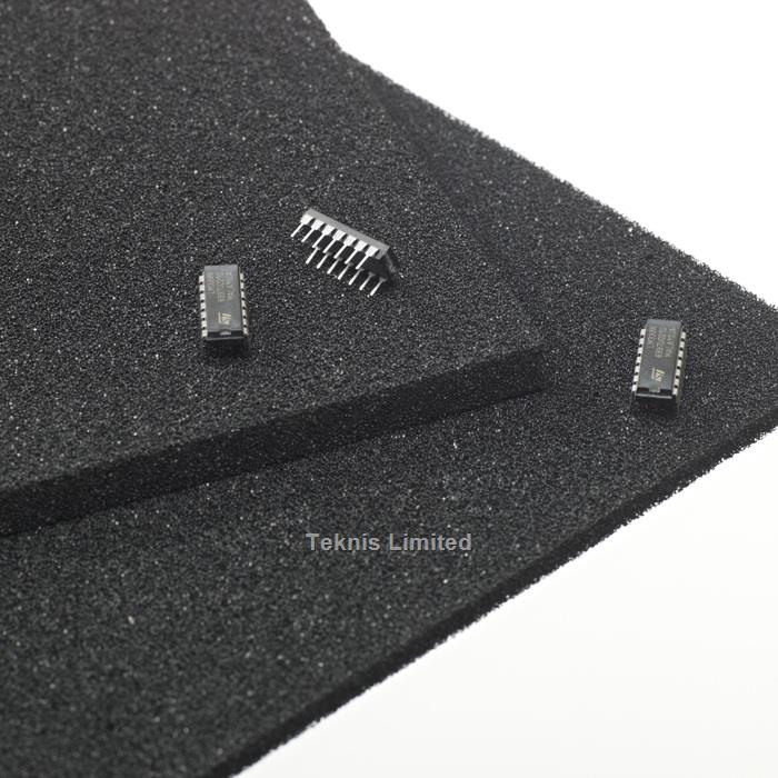 ELECTROSTATIC CONDUCTIVE BLACK - PIN INSERTION FOAM